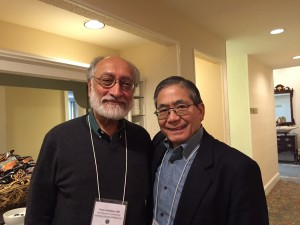 Dr. Siddique with Dr. Hiroshi Mitsumoto, workshop organizer